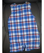 Janie and Jack Multi-Colored Plaid Lined Romper Size 6/12 Months Boy's EUC - $24.64