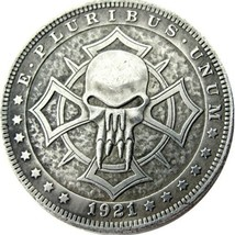 Hobo Nickel Morgan Dollar Coin For Collectors 1921 Sinister Dead From Hell Devil - $5.49