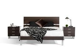 Modrest Bravo Modern Wenge Queen Bed - $748.00