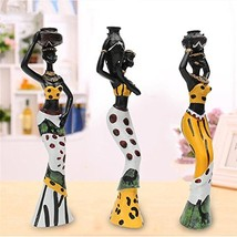 Vintage African Lady Figurine Ethnic Statue Sculpture Resin Crafts Gift ... - $34.42
