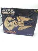 VINTAGE AMT Star Wars Limited Edition GOLD Tone TIE INTERCEPTOR Sealed *... - $18.32