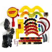 Domino Rally Game Replacement Parts Large Lot Red Yellow Black Vintage P... - $24.74