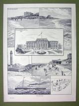 GERMANY Spa Resort Westerland Sylt Island - VICTORIAN Era Print - $11.47