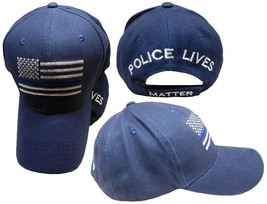 USA Police Memorial Thin Blue Line Police Lives Matter Dark Blue Cap Hat (Navy) - $44.44