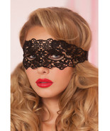 LACE EYE MASK WITH SATIN RIBBON TIES BLACK OR RED - €12,37 EUR