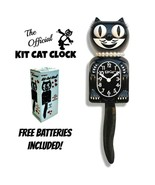 "CLASSIC LADY KIT CAT CLOCK 15.5"" Black Kit-Cat Klock NEW Free Battery US... - $69.99"