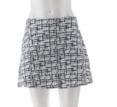 Women with Control Petite Tummy Control Printed Skort Navy PXS NEW A264861 - $24.73