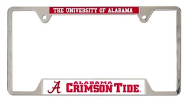 Alabama Crimson Tide Heavy Duty Chrome Metal License Plate Frame - $13.95