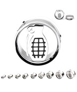 "PAIR-Grenade Steel Screw On Ear Tunnels 19mm/3/4"" Gauge Body Jewelry - $11.99"