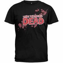 The Walking Dead - Blood Logo Soft T-Shirt Black Large - $17.63
