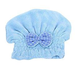 Hair Drying Towels/Shower Caps Microfiber Hair TowelWipe Hair Cap,Blue