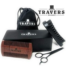 Travers Brands Beard Grooming Kit for Men, Beard & Mustache Growth Grooming & Tr