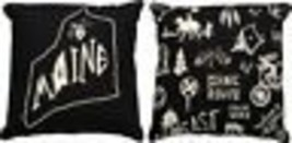 Maine State Pillow Primitives by Kathy Black White - $9.85