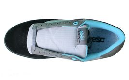 WeSC Mens Black Dark Shadow Gray Turquoise Emerson Stash Graffiti NY Shoes image 6