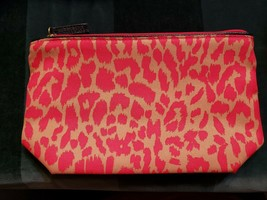 Estee Lauder Hot Pink, Gold Animal print cosmetic bag - $3.96
