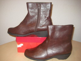 Aerosoles Size 10 M SPEARTINT Dark Brown Ankle Boots Womens New Shoes - $98.01