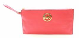 Michael Kors Clutch Wristlet Bag Pink Pebbled Leather - $140.44