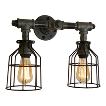 Modern Farmhouse 2-Bulb Vanity Light, Edison Antique-Style Bathroom Lamp - $165.00