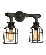 Modern Farmhouse 2-Bulb Vanity Light, Edison Antique-Style Bathroom Lamp - £132.91 GBP