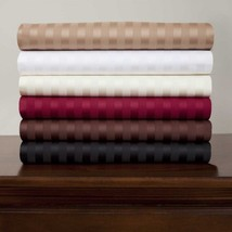 6 PC Sheet Set 1000Thread Count Egyptian Cotton Size Queen All Striped C... - $75.93