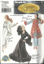 7085 UNCUT Simplicity Sewing Pattern Fashion Doll Clothes Lingerie Orien... - $14.99