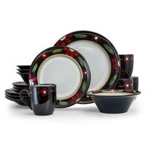 Elama Homestead 16 Piece Luxurious Stoneware Dinnerware with Complete Se... - $103.18