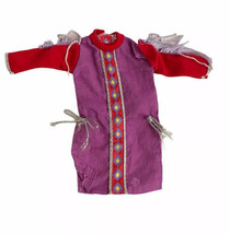 Vtg Barbie Western Cowgirl Dress Purple Doll Clothes Boho Rodeo Fringe O... - $11.87