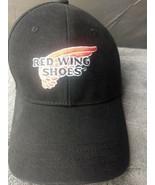 Men's Red Wing Shoes Logo Advertising Black Baseball Hat Cap Adjustable  - $14.97