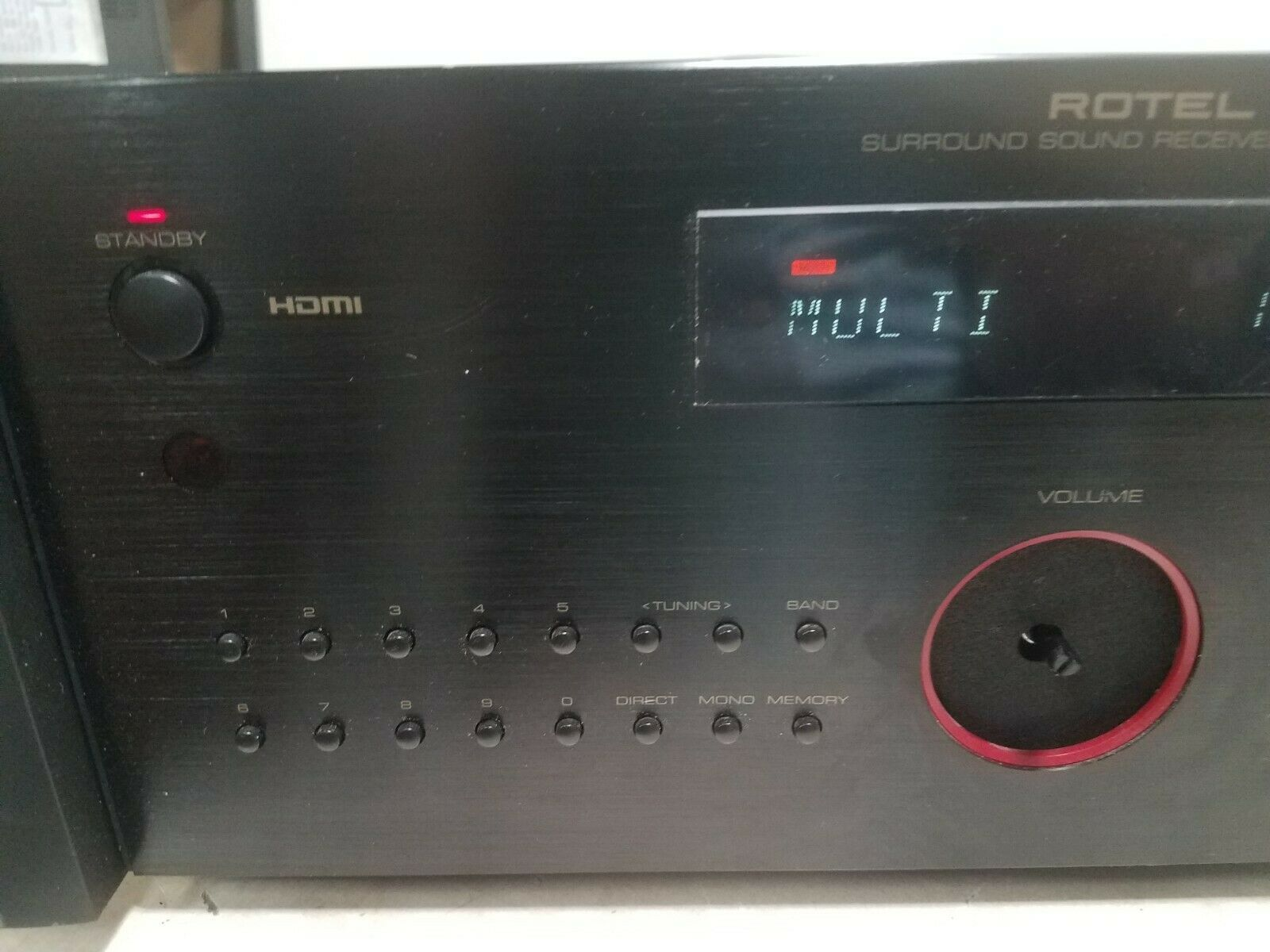 Rotel RSX-1057  Sound Receiver AS IS READ AD NO RETURNS FOR PARTS OR REPAIR