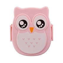 SIBAOLU Kawaii Candy Color Owl Lunch Box Microwave Oven - $12.95