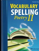 Vocabulary Spelling Poetry II Teacher Key (with CD), Grade 8, A Beka Boo... - $10.50