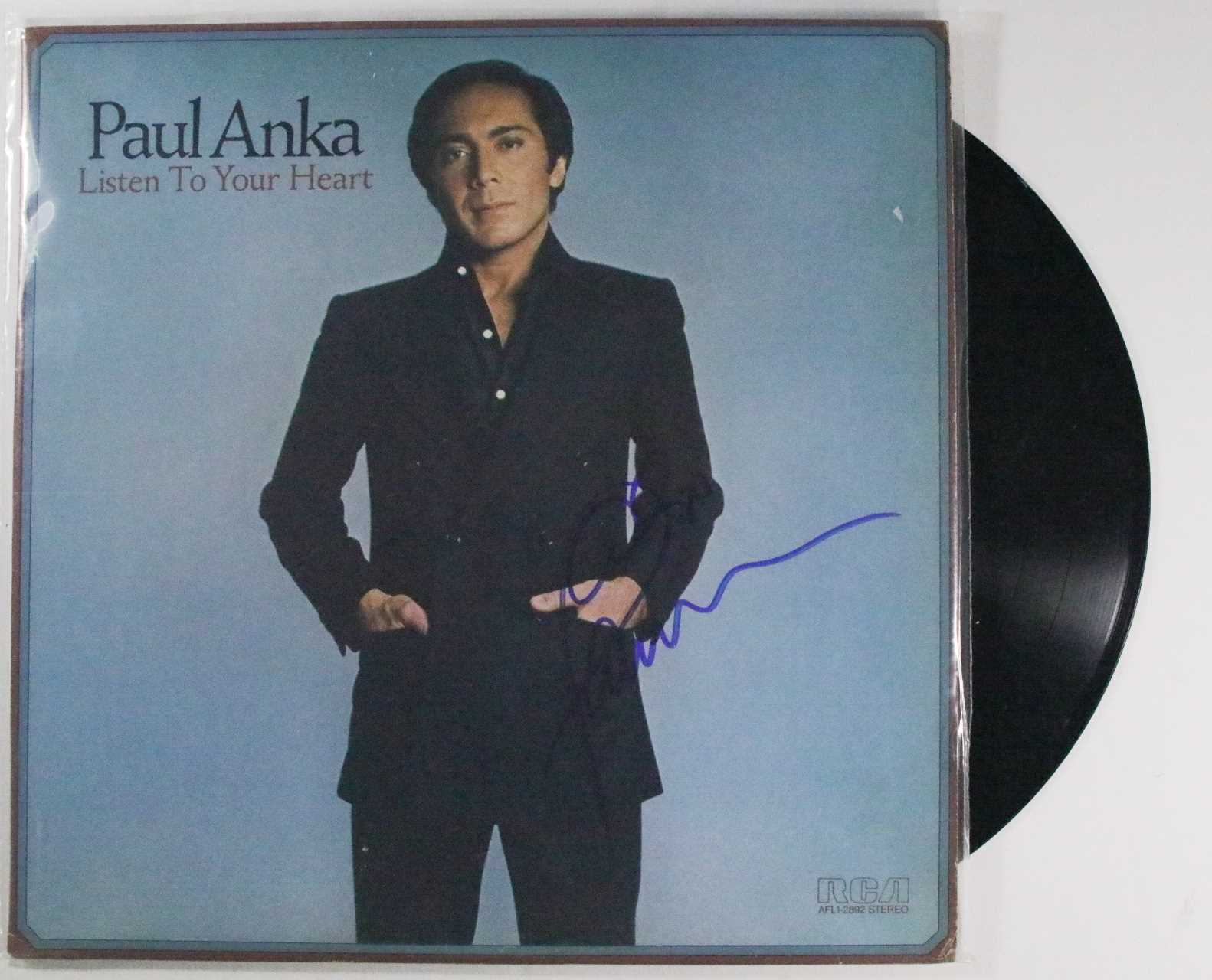 "Primary image for Paul Anka Signed Autographed ""Listen to Your Heart"" Record Album"