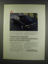 1991 Mitsubishi Diamante Sedan Ad - Introducing Diamante. A new luxury  - $14.99