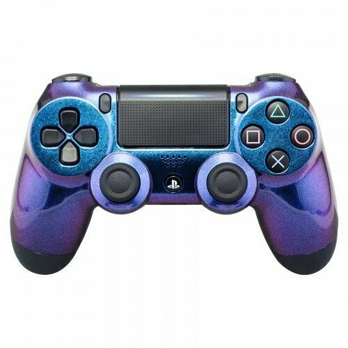 "A custom PS4 controller made with rubberized silicone for a ""soft touch"" feel."