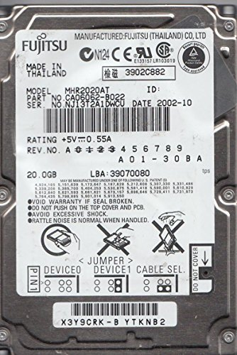"FUJITSU Part # MHR2020AT 20GB 2.5"" 9.5MM IDE 44PIN Hard Drive"