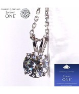 1.00 Carat (6.5mm) Moissanite Forever One Solitaire Pendant (Charles & C... - $499.00