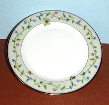 "Lenox IDALIA Bread & Butter Plate 6.25"" Floral Butterfly Motif Platinum Trim New - $19.99"