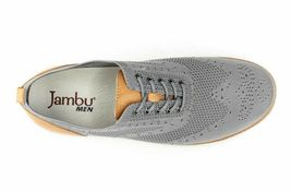 NEW J Sport By Jambu Mens Gray Lincoln Oxford Lace Up Wingtip Shoes image 4