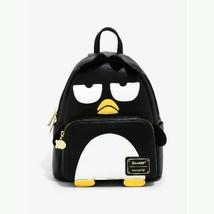 Loungefly Sanrio Badtz Maru Penguin Black Vegan Leather Mini Backpack - $108.90