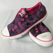 Girls Youth Pink Purple Black One Star Low Top Converse Sneakers Laceles... - $31.68