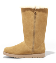 Universal Thread Women's Daniela Natural Real Suede Faux Fur Tall Winter Boots image 2