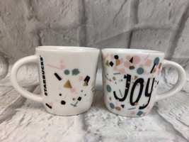 Starbucks JOY Ceramic Expresso Coffee Mugs Lot Of 2 New Collectible Gift - $16.46