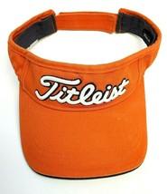 Titleist Pro Golf Sun Visor Strapback Hat Cap Orange Adjustable Genuine ... - $18.95