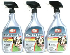 (3) Ortho 24 Oz Dog & Cat B Gon Stops Foraging Ready To Use Repellent Sp... - $29.98