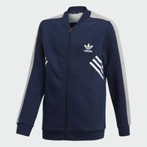 Boys Adidas Sst Track Jacket Dark Blue New CE 1086 Size Small 8-10 - $26.72