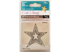 Provo Craft Cuttlebug Concentric Stars Die #37-1228