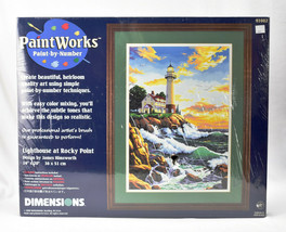 """Dimensions Paint Works Paint By Number Lighthouse at Rocky Point 14"""" x 20"""" - $98.95"""