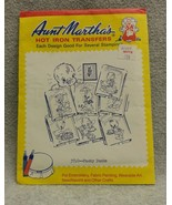 Aunt Marthas Hot Iron Transfer #3740 Tea Towels Ducky Ducks Days of Week... - $5.86