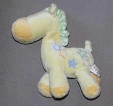 """Just One Year Carters Baby Yellow Plush Giraffe Rattle Toy Lovey Stars 7"""" - $12.86"""
