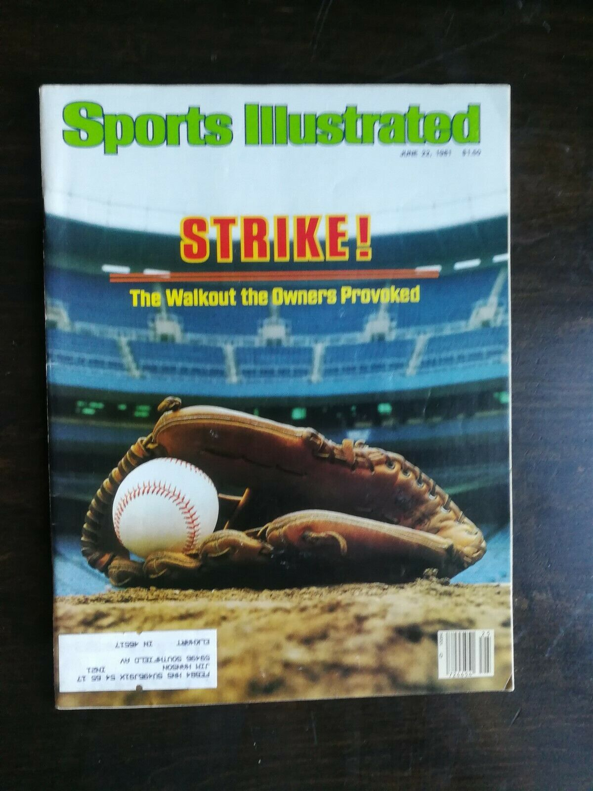 Primary image for Sports Illustrated June 22, 1981 - Baseball Strike - Bjorn Borg - Larry Holmes